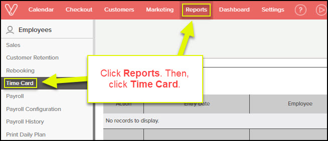 How To Manage Time Card Entries In Vagaro Vagaro Support