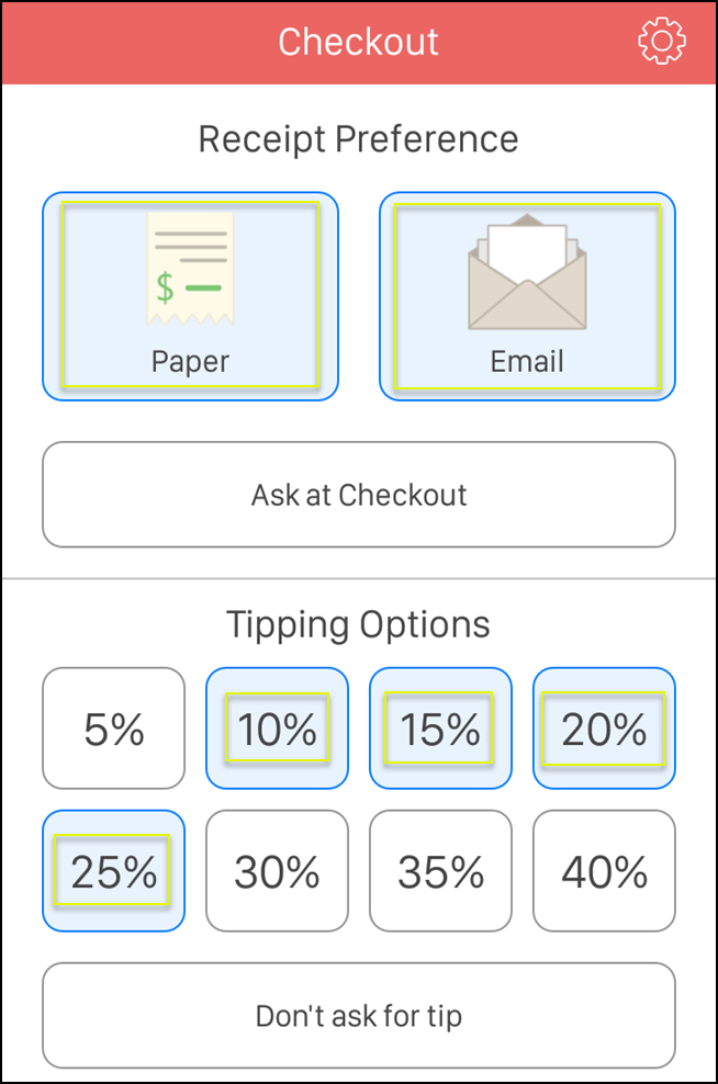 if you selected the paper option youll be able to print a copy of the receipt tap print receipt if you selected email a receipt will also be emailed to
