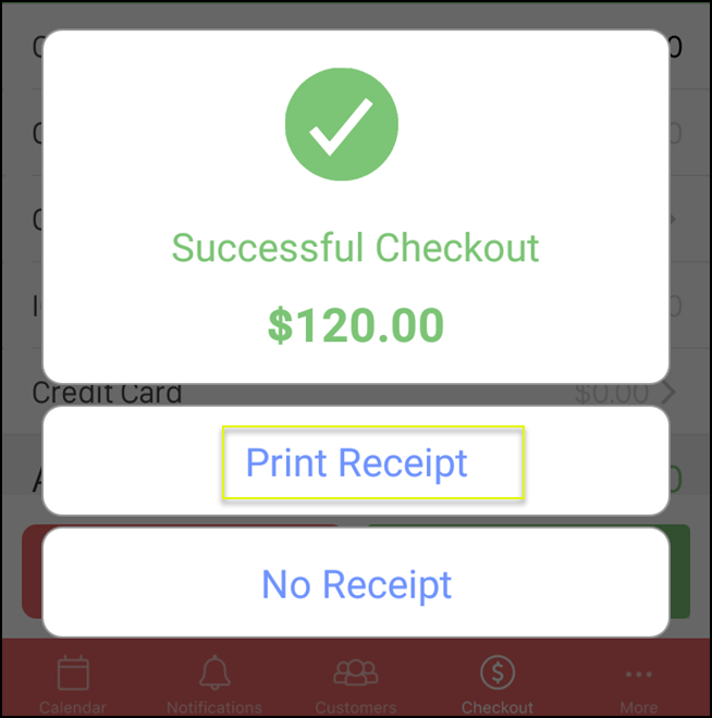 How to email or print a copy of a receipt in vagaro vagaro support 5g reheart Images
