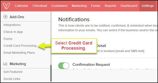 make sure that this page is enabled and your name is under the merchant account section if it states awaiting approval this means that the merchant - Credit Card Merchant Name Search