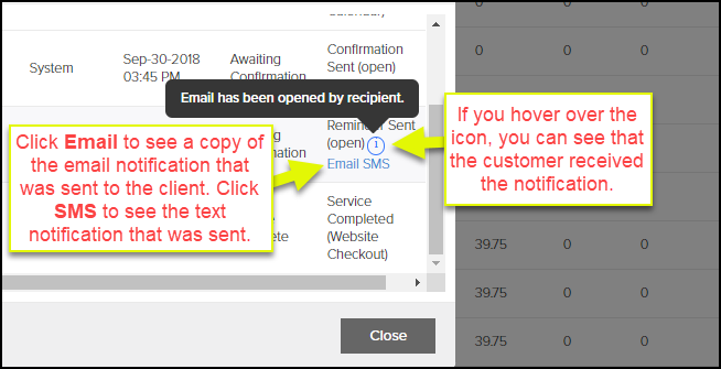 How to See if a Customer Received an Appointment Notification