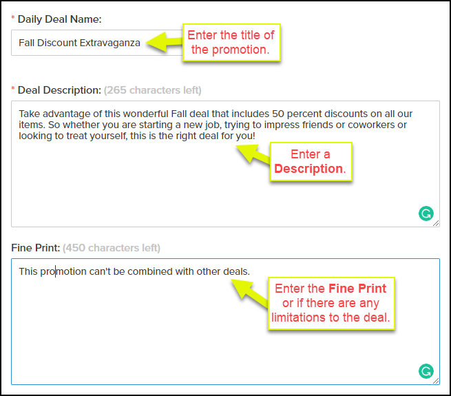 How To Create A Daily Deal Web Version Vagaro Support