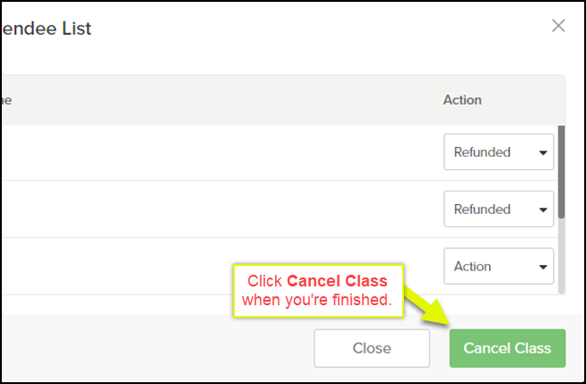 How to Cancel a Class Session (On the Desktop Version) – Vagaro Support